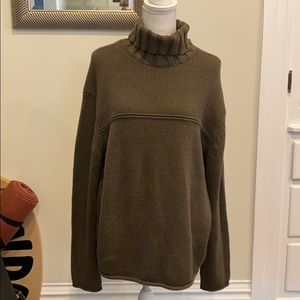 Chunky Oversized Sweater Olive Green